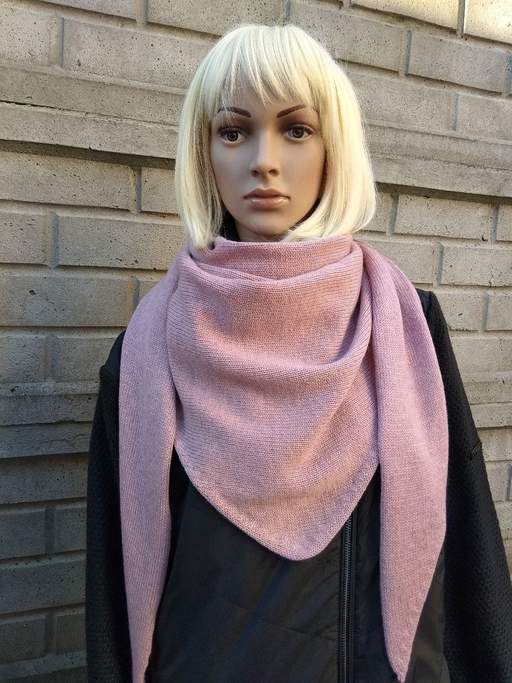 Scarf-bactus 'Dusty rose' from 100 % cashmere (Italy), Scarves and snoods, St. Petersburg,  Фото №1