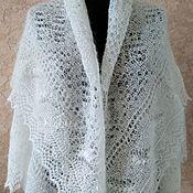 Аксессуары handmade. Livemaster - original item 310 down shawl gossamer openwork accessories Orenburg goat down. Handmade.