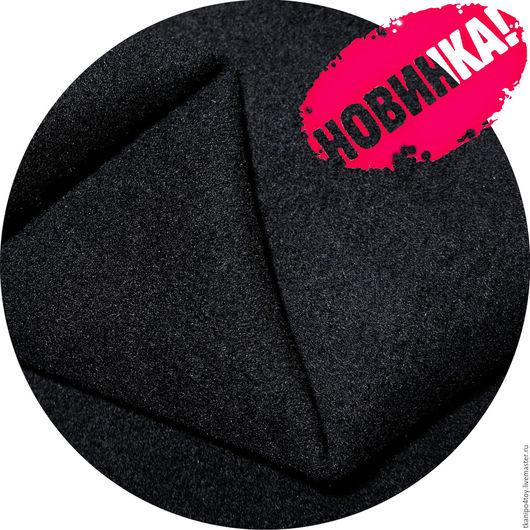Шитье ручной работы. Ярмарка Мастеров - ручная работа. Купить Пальтовая ткань IT-703/black (пальт.велюр). Handmade.