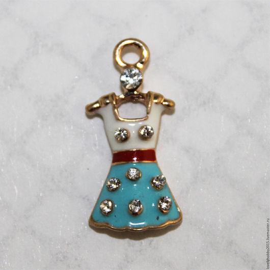 Фурнитура, подвески из металла `Платье `