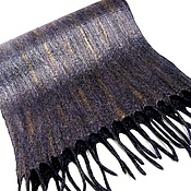 Scarves handmade. Livemaster - original item Men`s felted scarf