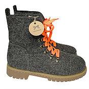 Обувь ручной работы handmade. Livemaster - original item Grey felt boots with laces. Handmade.