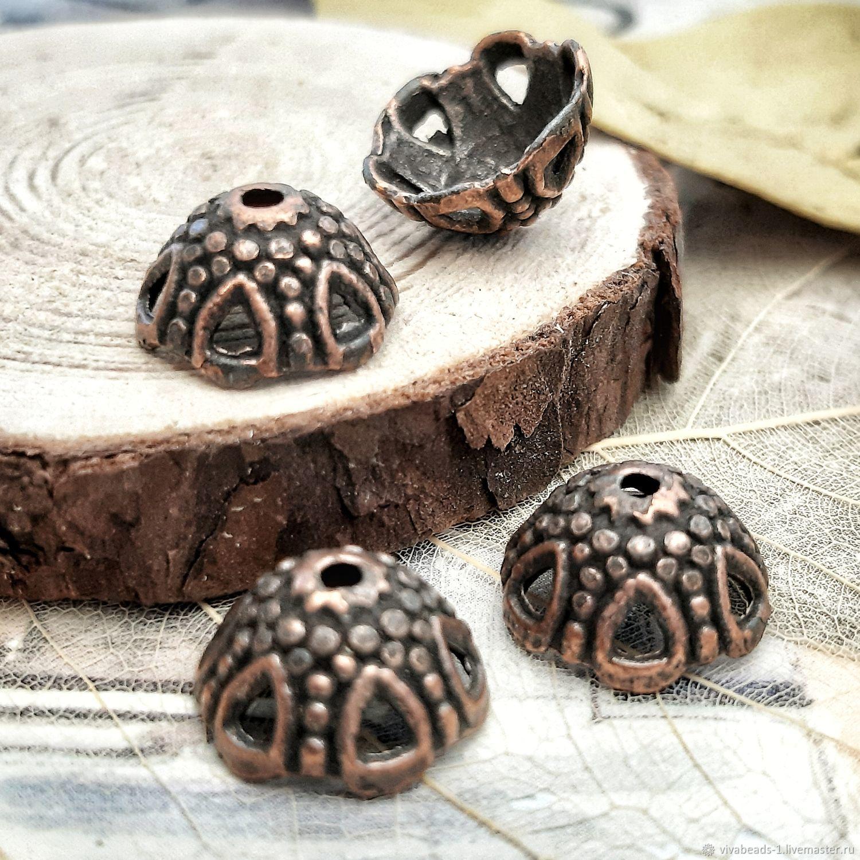 10 PCs. Cap 12h7 mm bead COPPER (Ref. 3030), Accessories for jewelry, Voronezh,  Фото №1
