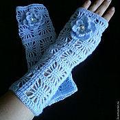 Аксессуары handmade. Livemaster - original item Mitts blue Spider. Handmade.