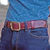 Аксессуары handmade. Livemaster - original item Strap leather ABERDEEN. Manual coloring. Strap male. Handmade.