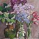Картины цветов ручной работы. Ярмарка Мастеров - ручная работа. Купить весенние букеты. Handmade. Сиреневый, калина, весна, стекло