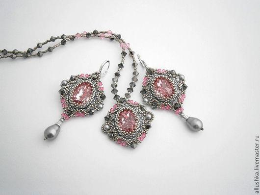 """Комплекты украшений ручной работы. Ярмарка Мастеров - ручная работа. Купить Комплект украшений """"Rose"""". Handmade. Beads, украшения из бисера"""