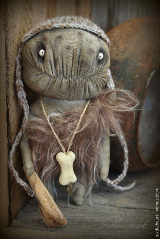 Куклы и игрушки ручной работы. Ярмарка Мастеров - ручная работа. Купить Пещерный житель. Handmade. Коричневый, пещерный, чердачная кукла