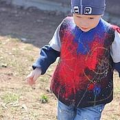 """Работы для детей, ручной работы. Ярмарка Мастеров - ручная работа Жилет детский """"Человек-паук"""". Handmade."""