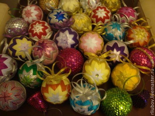 Новый год 2017 ручной работы. Ярмарка Мастеров - ручная работа. Купить Шары новогодние. Handmade. Новогоднее украшение, шар, пайетки