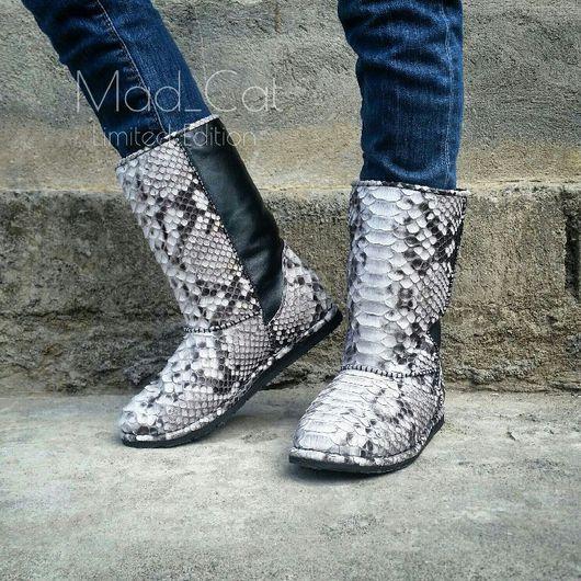 Обувь ручной работы. Ярмарка Мастеров - ручная работа. Купить Угги из натуральной кожи питона в комбинации с натуральной кожей. Handmade.