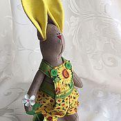Куклы и игрушки ручной работы. Ярмарка Мастеров - ручная работа Подсолнечный зайка. Handmade.