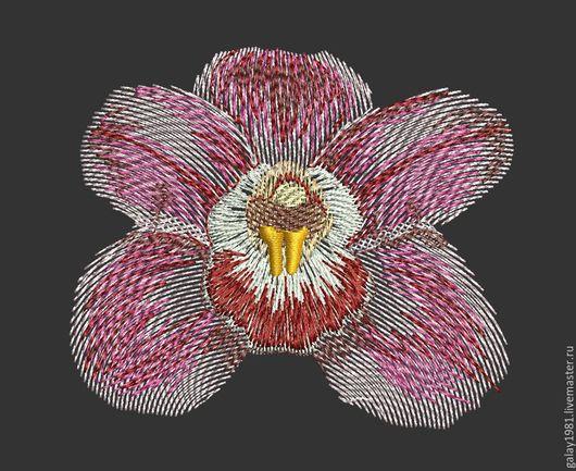 """Вышивка ручной работы. Ярмарка Мастеров - ручная работа. Купить Дизайн машинной вышивки. """"Орхидея"""".. Handmade. Дизайн машинной вышивки"""