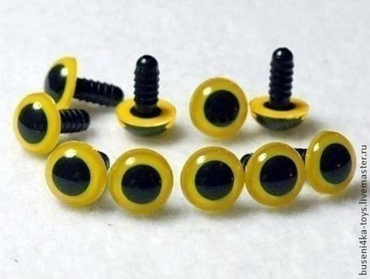 """Куклы и игрушки ручной работы. Ярмарка Мастеров - ручная работа. Купить 12мм Глаза для игрушек (желтые) 2шт. """"3428"""". Handmade."""
