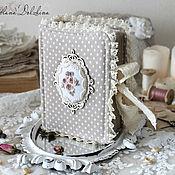 "Notebooks handmade. Livemaster - original item Блокнот ручной работы для девушки ""Romantic"" бежевый шебби. Handmade."