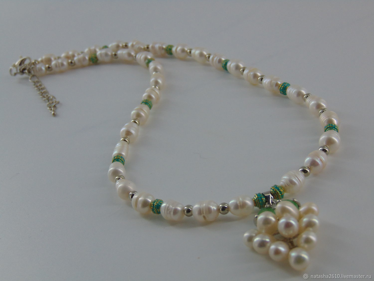 Necklace made of river pearls ' Pearl vine', Necklace, Velikiy Novgorod,  Фото №1