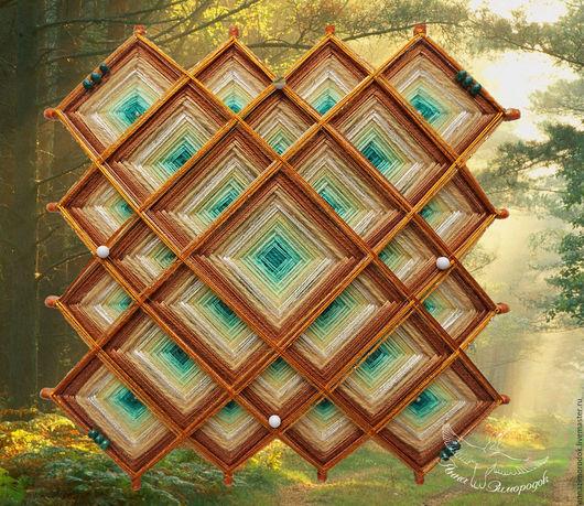Медитация ручной работы. Ярмарка Мастеров - ручная работа. Купить Мандала тибетская оберег для дома Изумрудный Лес камни медитация йога. Handmade.