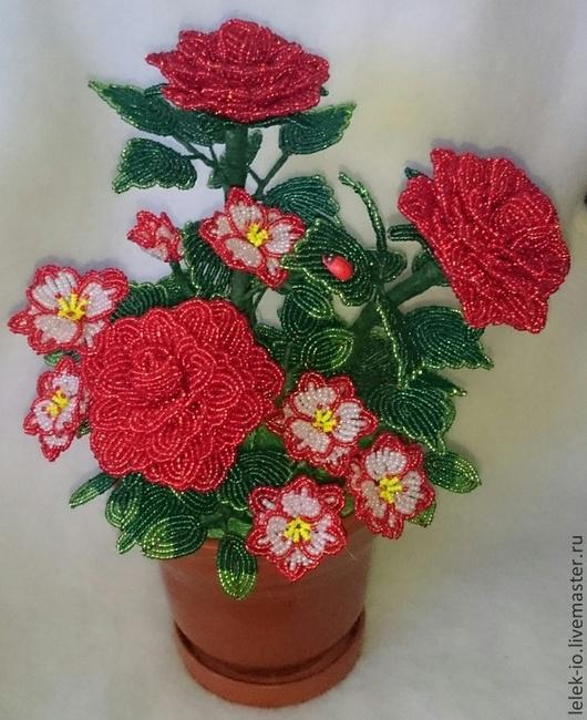 Цветы ручной работы. Ярмарка Мастеров - ручная работа. Купить композиция из роз. Handmade. Ярко-красный, розы