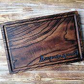 Посуда handmade. Livemaster - original item Rectangular cutting board with firing. Handmade.