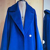 """Одежда ручной работы. Ярмарка Мастеров - ручная работа Пальто- халат с поясом """"Кобальтовое"""". Handmade."""
