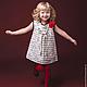 Одежда для девочек, ручной работы. Поэтичное платье. Aleksandra Gapanovich. Интернет-магазин Ярмарка Мастеров. Рисунок, подарок для ребенка