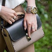 Сумки и аксессуары handmade. Livemaster - original item Leather and wood bag, black, reptilian leather. Handmade.