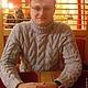 Для мужчин, ручной работы. Мужской свитер узором миланские косы. locus Consolationis(Обитель уюта). Интернет-магазин Ярмарка Мастеров.