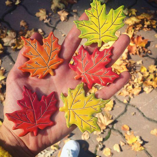 """Броши ручной работы. Ярмарка Мастеров - ручная работа. Купить Брошь """"Осенний лист"""". Handmade. Осень, украшение, Бижутерия"""