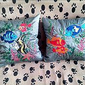 Для дома и интерьера ручной работы. Ярмарка Мастеров - ручная работа Подушки с вышивкой. Handmade.