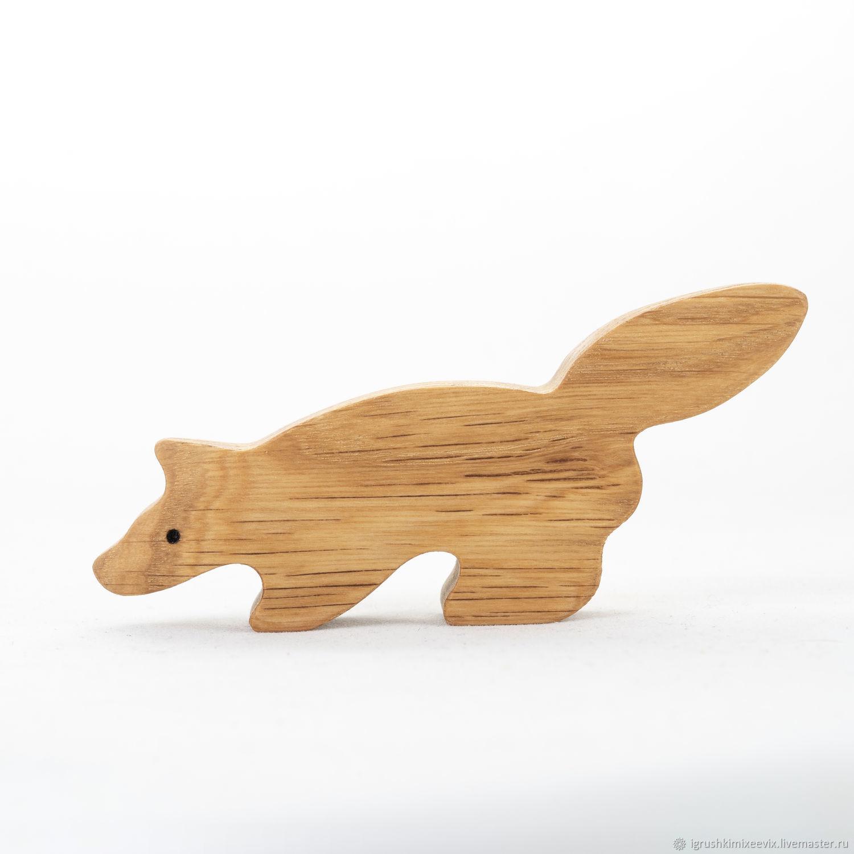Енот, деревянная развивающая игрушка, Вальдорфские куклы и звери, Смоленск,  Фото №1