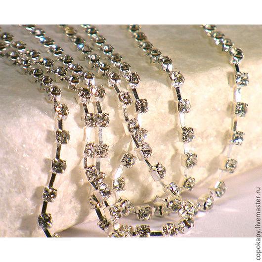 Для украшений ручной работы. Ярмарка Мастеров - ручная работа. Купить 31/99 Стразовая лента(2,5мм) Crystal. Handmade. Белый