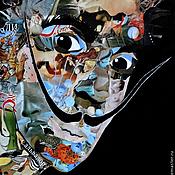 """Картины и панно ручной работы. Ярмарка Мастеров - ручная работа Картина """"Сальвадор Дали"""". Коллаж. Портрет. Испания. Handmade."""