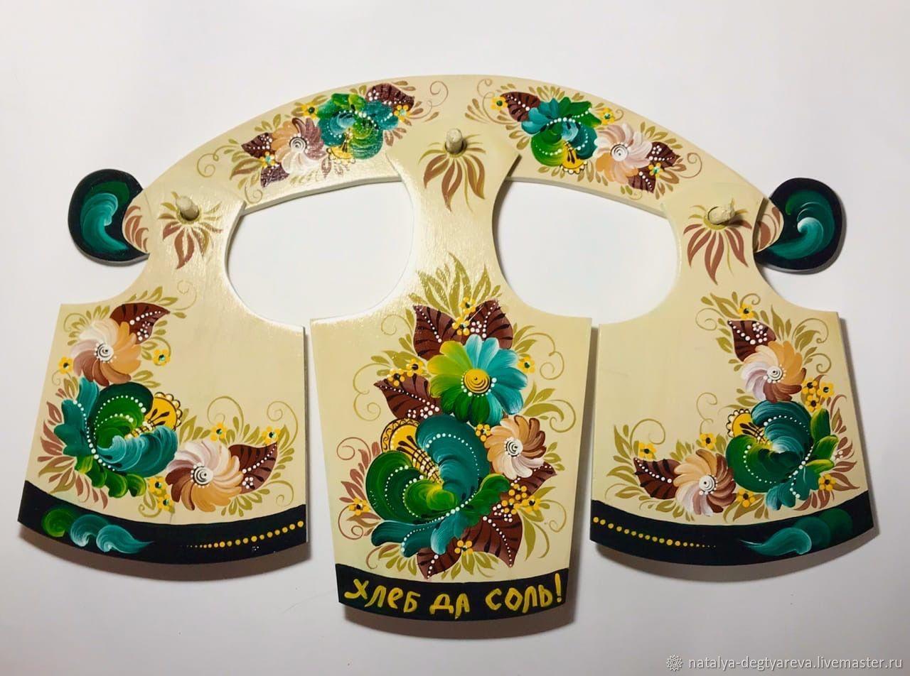 Доски набор из 4х предметов с волховской росписью, Доски, Тула,  Фото №1