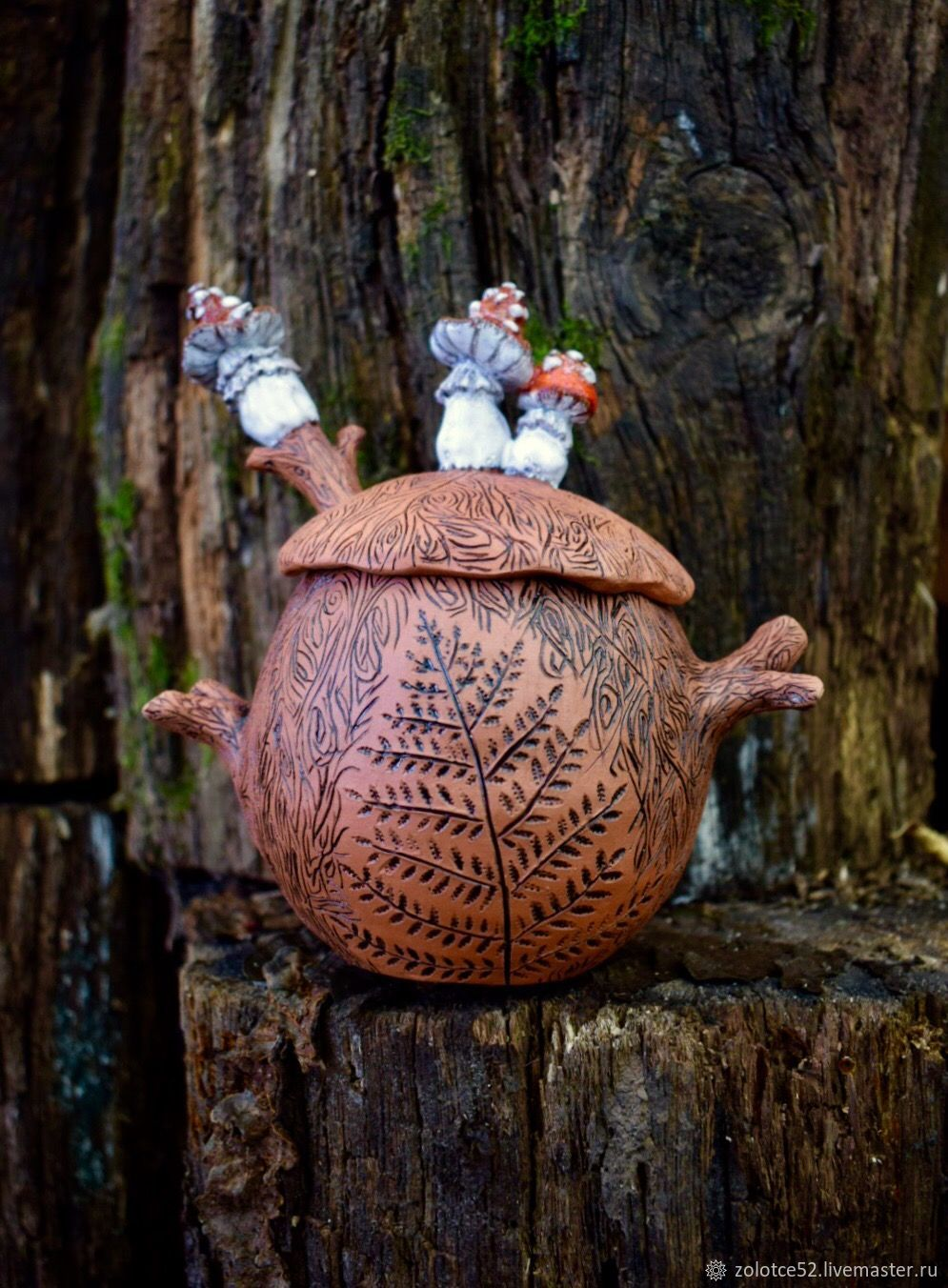 Мухоморовая Сахарница с ложечкой керамика, Сахарницы, Нижний Новгород,  Фото №1
