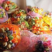 Цветы и флористика ручной работы. Ярмарка Мастеров - ручная работа Весенние букеты из конфет. Handmade.