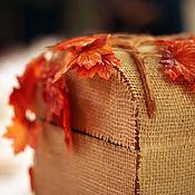 """Свадебный салон ручной работы. Ярмарка Мастеров - ручная работа Сундучок для денег """"Осень"""". Handmade."""