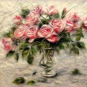Картины и панно ручной работы. Ярмарка Мастеров - ручная работа Картина из шерсти Унесенные ветром. Handmade.