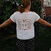 "Одежда ручной работы. Ярмарка Мастеров - ручная работа вязаная блуза ""Бабочка"". Handmade."