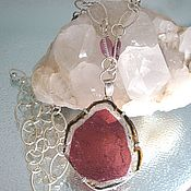 Украшения handmade. Livemaster - original item Watermelon Pink Rubellite Tourmaline Sterling Silver Necklace. Handmade.