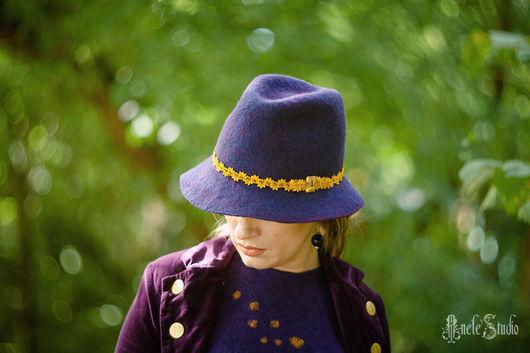 Шляпы ручной работы. Ярмарка Мастеров - ручная работа. Купить Шляпа Ш_14014. Handmade. Тёмно-фиолетовый, стильная шляпа, лиловый