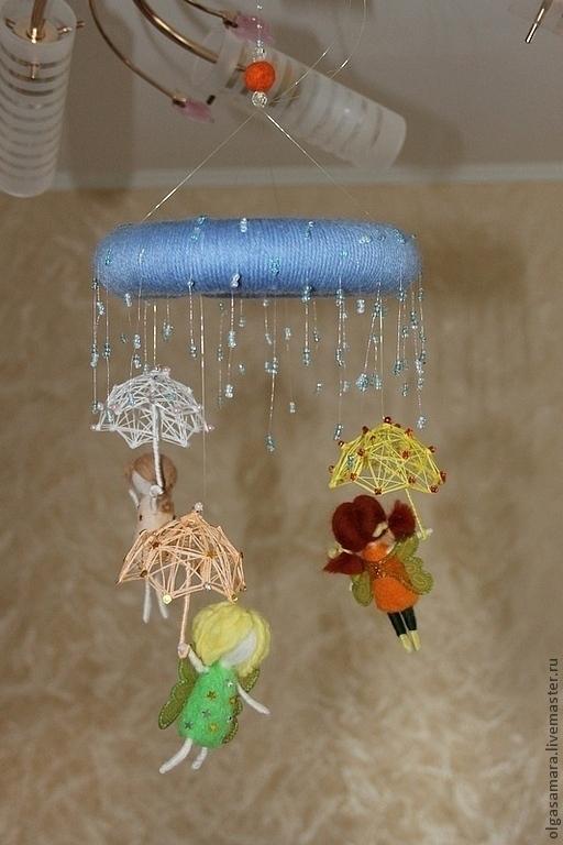 Детская ручной работы. Ярмарка Мастеров - ручная работа. Купить феи дождя. Handmade. Феи дождя, фея, мобил для детской