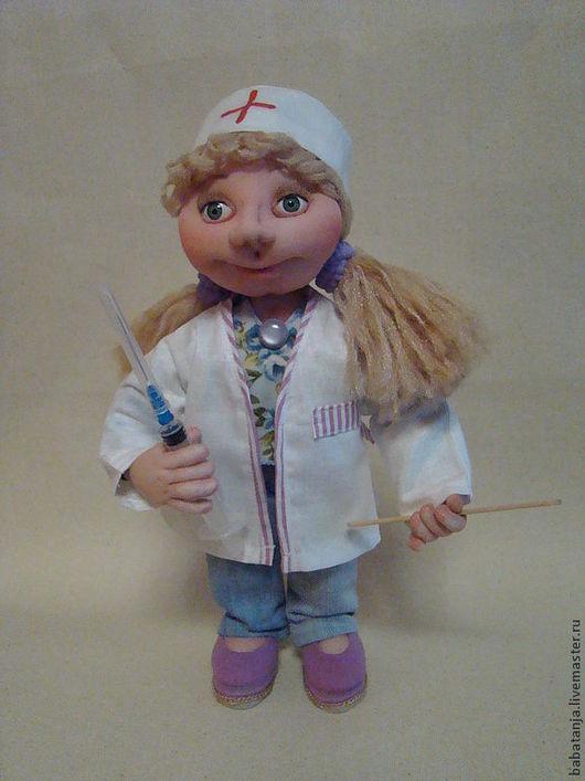 Человечки ручной работы. Ярмарка Мастеров - ручная работа. Купить Кукла из капрона медицинская сестра.. Handmade. Белый, подарок женщине