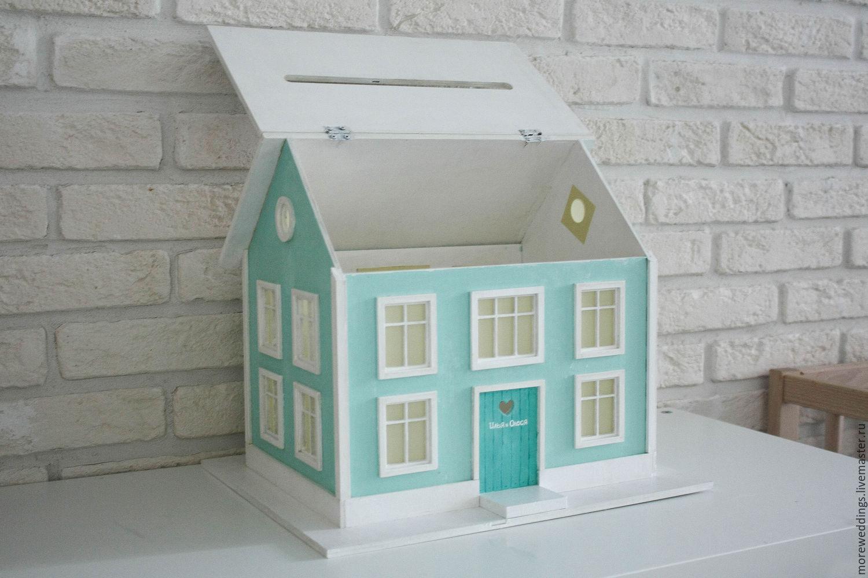 Свадебный домик для денег своими руками 21