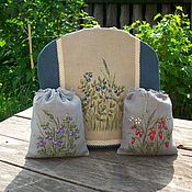 handmade. Livemaster - original item A hot water bottle for a teapot and two bags of aromatic herbs Painted. Handmade.