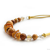 Украшения handmade. Livemaster - original item Necklace with amber