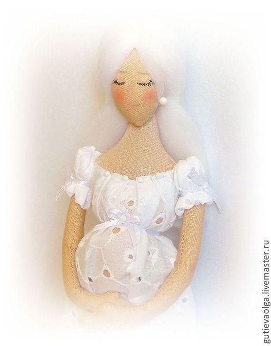 Коллекционные куклы ручной работы. Ярмарка Мастеров - ручная работа. Купить Ангел-хранитель. В ожидании чуда.... Handmade. Белый