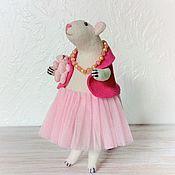 Для дома и интерьера handmade. Livemaster - original item Rat white Sensen, toy interior. Handmade.