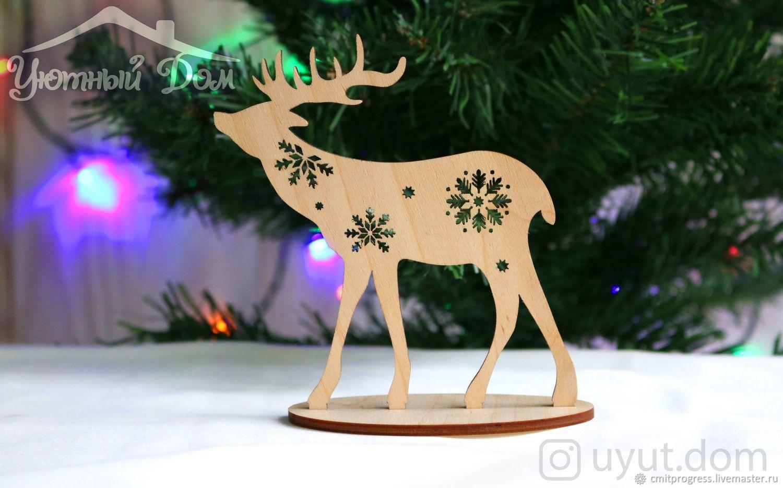 Christmas wooden deer, Christmas gifts, Dimitrovgrad,  Фото №1