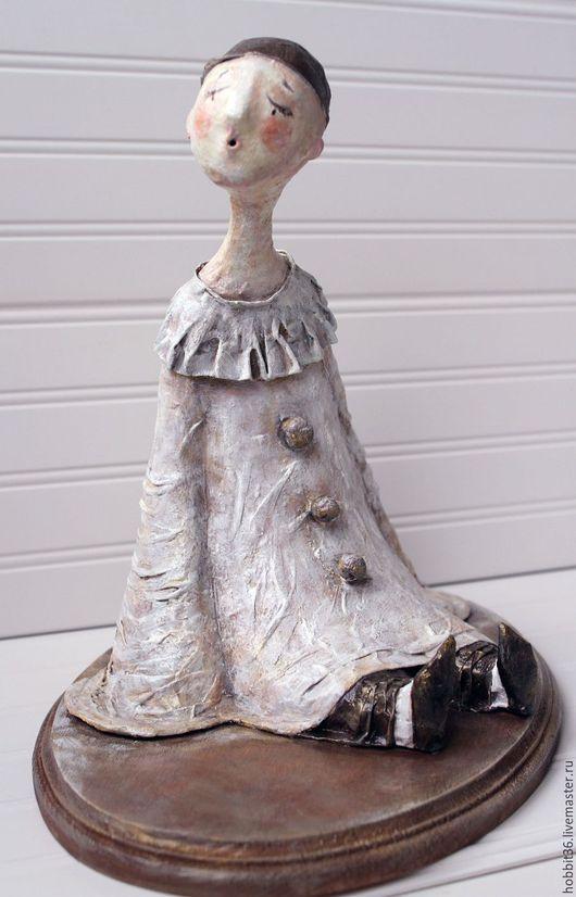 Коллекционные куклы ручной работы. Ярмарка Мастеров - ручная работа. Купить кукла интерьерная  Пьеро - печальный гость карнавала. Handmade.