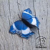 Brooches handmade. Livemaster - original item Brooch leather Butterfly Salamis Temora. Handmade.